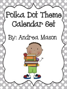 Polka Dot Theme Calendar Set