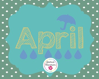 Polka Dot Calendar Headers