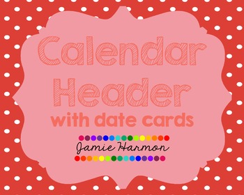 Polka Dot Calendar Headers