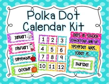 Polka Dot Calendar Kit