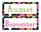 Polka Dot Calendar Numbers