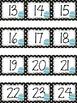 Polka Dot Calendar Numbers for April
