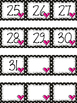Polka Dot Calendar Numbers for February