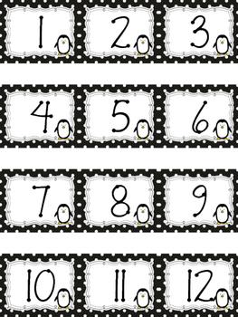 Polka Dot Calendar Numbers for January