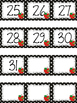 Polka Dot Calendar Numbers for September