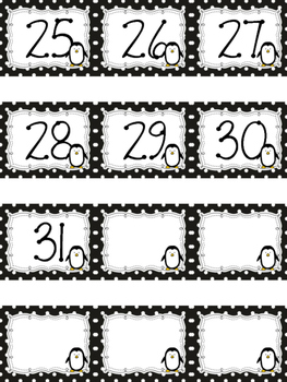 Polka Dot Calendar Numbers for the ENTIRE YEAR BUNDLE!