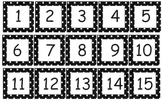 Polka Dot Calendar Numbers in 11 Different Colors