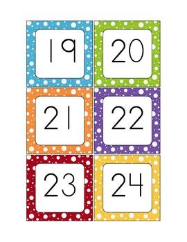 Polka Dot Calendar Pieces