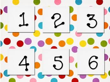 Polka Dot Calendar Set