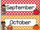 Polka Dot Calendar Set-Classroom Decor