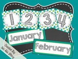 Polka Dot Calendar Set (Blue&Green)