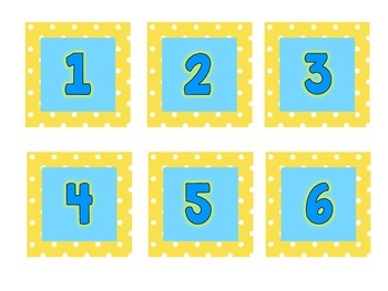 Polka Dot Calendar Set {English}