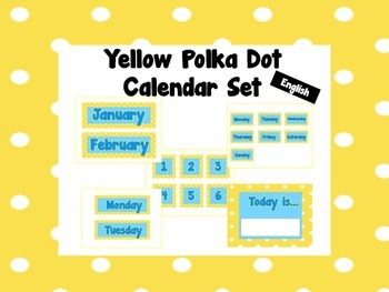 Polka Dot Calendar Set {English}