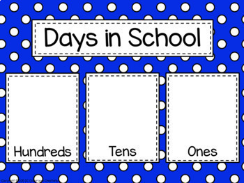Polka Dot Calendar Set (Primary Polka Dots)-Classroom Decor