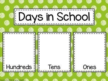 Polka Dot Calendar Set (Scribble Dot)-Classroom Decor