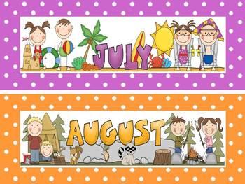 Polka Dot Calendar Set and Classroom Decorations