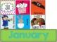 Polka Dot Calendar Set {Number cards, Month Headers, Holiday Cards}