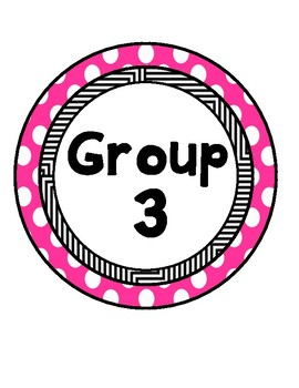 Polka Dot Ceiling Group Number Signs