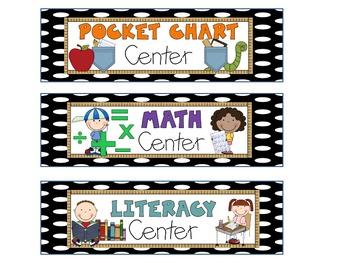 Polka Dot Center Cards