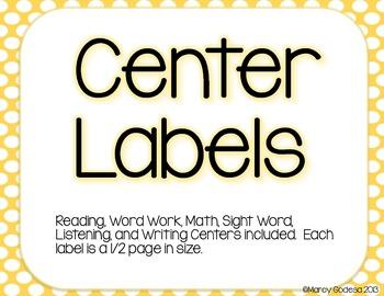 {Polka Dot} Center Label