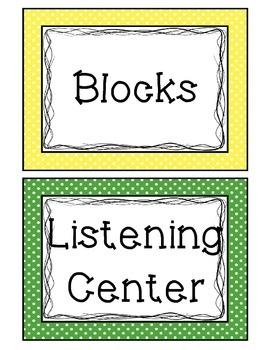 Polka Dot Center Labels