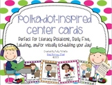 Polka-Dot Center Rotation Cards