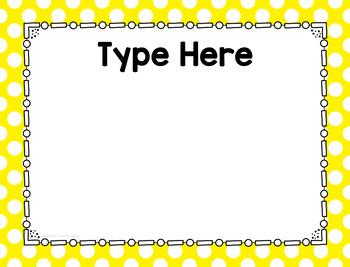 Polka Dot Center Signs-Classroom Decor