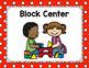 Polka Dot Center Signs (Primary Dots)-Classroom Decor