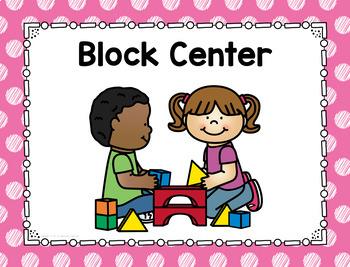 Polka Dot Center Signs (Scribble Dots)-Classroom Decor