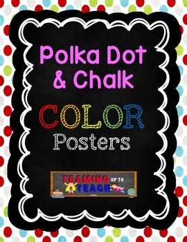 Polka Dot & Chalk Color Posters