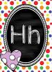 Polka Dot Chalkboard Alphabet