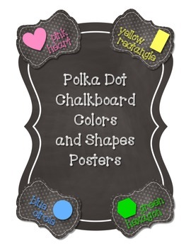 Polka Dot Chalkboard Colors and Shapes Posters