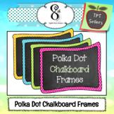 Polka Dot Chalkboard Frames