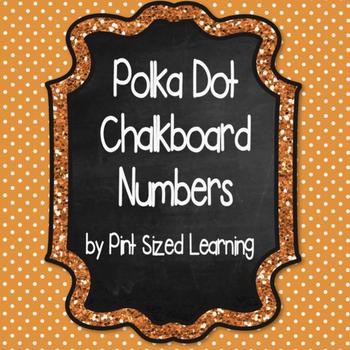 Polka Dot and Chalkboard Numbers