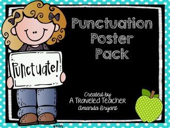 Polka Dot & Chalkboard Punctuation Posters