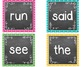 Polka Dot Chalkboard Word Wall Packet