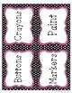Polka Dot Chevron Labels