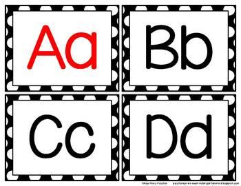 Polka Dot & Chevron Word Wall Headers and Sight Word Cards