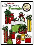 Polka Dot Christmas Presents Clipart