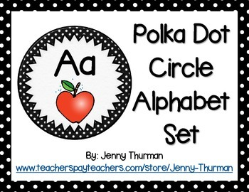 Polka Dot Circle Alphabet Set