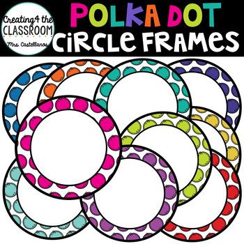 Polka Dot Circle Frames