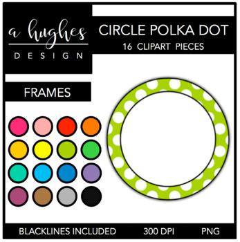 Circle Polka Dot Frames Clipart {A Hughes Design} | TpT
