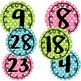 Polka Dot Circle Labels 1-30