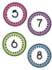 Polka Dot Circle Number Labels