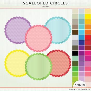 Polka Dot Circles &  Frames - 46 clip art pieces