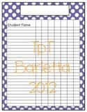 Polka Dot Class List - Purple
