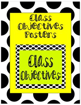 Polka Dot Class Objectives Poster Set