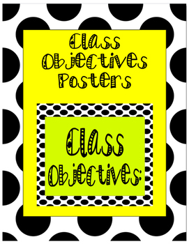 Polka Dot Class Objectives Poster Set