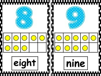 Alphabets & Numbers Black Polkadots Theme