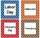 Polka Dot Classroom Calendar Set